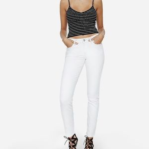 Express White Skinny Jeans Size 12